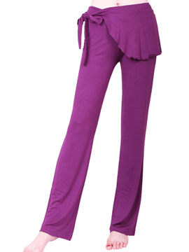 Ericdress Solid Color Yoga Pants