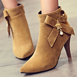 Ericdress Fashion Bowtie Point Toe High Heel Boots