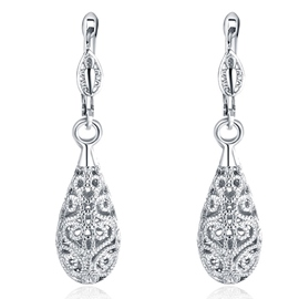 Ericdress Silver Water Drop Shaped Earrings