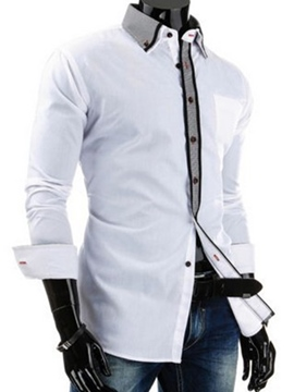 Ericdress Button Down Casual Long Sleeve Men's Shirt
