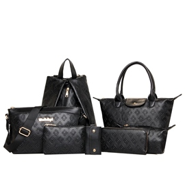 Ericdress Casual Plaid Embossed Handbag(7 Bags)