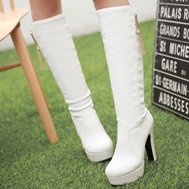 Ericdress Metal Tassels Ultra-High Knee High Boots