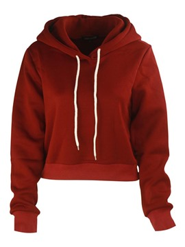 Ericdress Solid Color Casual Cool Hoodie