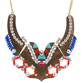 Ericdress Retro Personality Diamante Necklace
