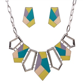 Ericdress Colorful Geometric Hollow-Out Jewelry Set