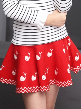 Ericdress Knitting Pattern Above Knee Girls Dress