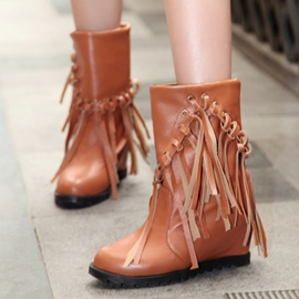 Ericdress PU Tassels Ankle Boots