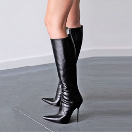 Ericdress Cool Point Toe Ultra High Knee High Boots