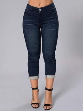 Ericdress Simple Seven Points Jeans