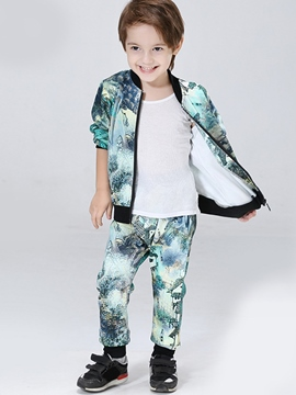 Ericdress abstract printing Thread Patchwork Two-Piece Boys Outfits