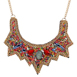 Ericdress Colorful Beading Alloy Necklace