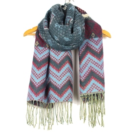 Ericdress Ethnic Geometric Cashmere Scarf