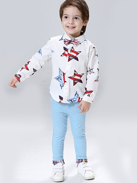 Ericdress Five-Pointed Star Printed Bow Patchwork Pure Boys Outfit
