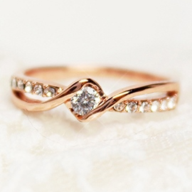 Ericdress Rose Gold Beading Ring