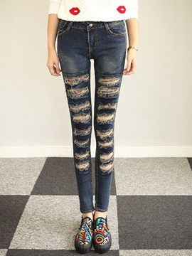 Ericdress Fashion Simple Jeans