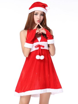 Ericdress Deep V-Neck Halt Sexy Santa Cosplay Christmas Costume