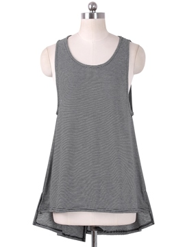 Ericdress Slim Stripped Vest