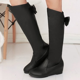 Ericdress Modern Girl Bowtie&rhinestone Knee High Boots