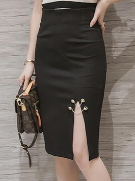 Ericdress Elegant Split Skirt