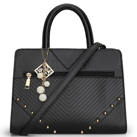 Ericdress Geometric Embossed Rivets Handbag