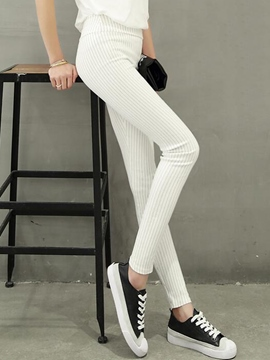 Ericdress Fashion Stripe High-Waist Leggings Pants