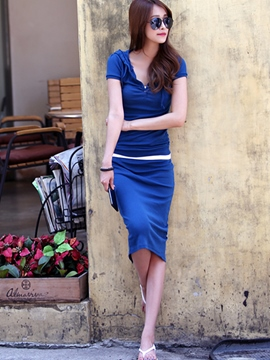 Ericdress Fashion Simple Skirt Suit