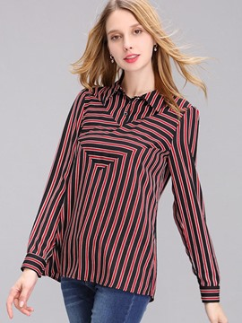 Ericdress Stripped Casual Blouse