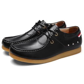 Ericdress Retro Solid Color Lace-Up Men's Casual Shoes