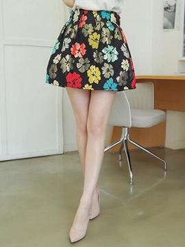 Ericdress Sweet Floral Skirt