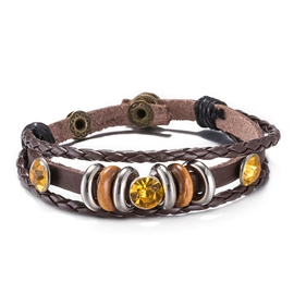 Ericdress Retro Brown Leather Bracelet