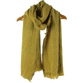 Ericdress Pure Color Soft Tassels Scarf