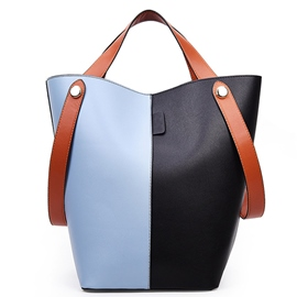 Ericdress Vogue Color Block Patchwork Bucket Shoulder Bag