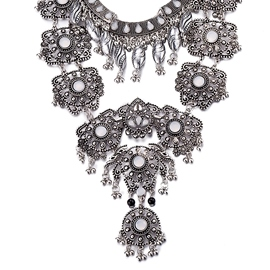 Ericdress Ancient Silver Crystal Necklace