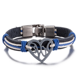 Ericdress Heart Shaped Design Leather Bracelet