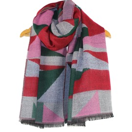 Ericdress Geometric Patchwork Thick Scarf/Shawl