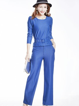 Ericdress Elegant Stripe Suit