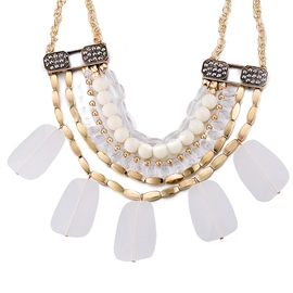 Ericdress White Geometric Resin Necklace