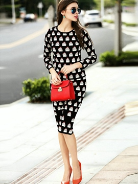 Ericdress Fashion Pattern Knitwear Suit