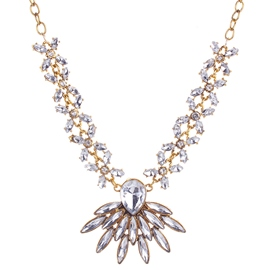 Ericdress Bright Transparent Flower Necklace