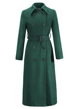 Ericdress Double-Breasted Solid Color Slim Coat