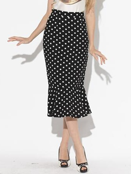 Ericdress Fashion Polka Dots Mermaid Skirt