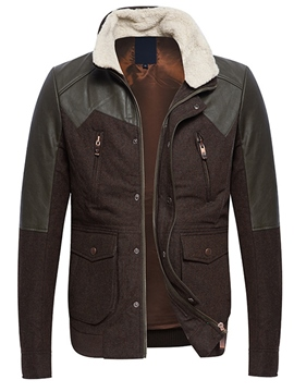 Ericdress Thicken Patchwork Vogue Men's Winter Jacket