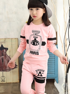 Ericdress Printing Plain Slim Tee Two-Piece Girls Outfit