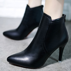 Ericdress PU Point Toe High Heel Boots