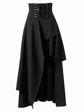 Ericdress Vintage Asymmetric Skirt