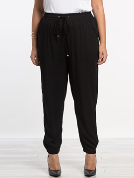 Ericdress Simple Plus Size Casual Pants