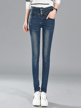 Ericdress Fashion Single-Breasted Skinny Jeans