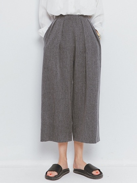 Ericdress Simple Wide Legs Pants