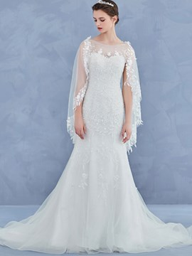 Ericdress Beautiful Illusion Neckline Mermaid Wedding Dress