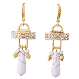 Ericdress White Natural Stone Earrings